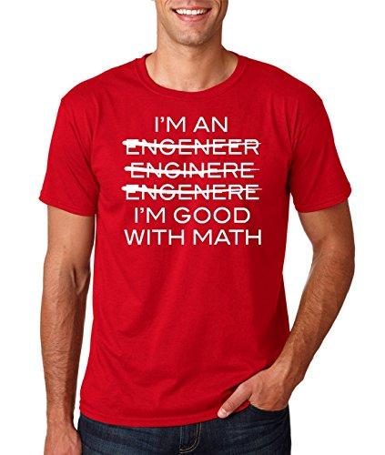 """3b2fe0be11 AW Fashion's I""""m An Engineer I""""m Good At Math Premium Men's T-Shirt (Medium  , Red)"""
