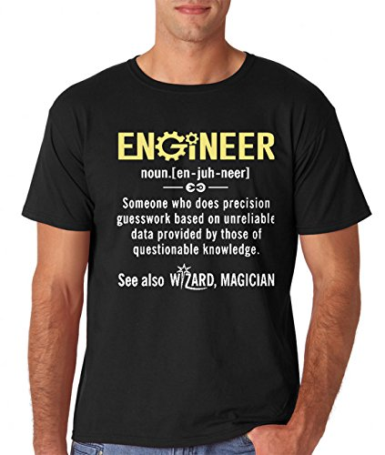 a18707983e AW Fashion's Engineer – Funny Engineer Meaning – Funny Definition Premium  Men's T-Shirt (Large, Black)